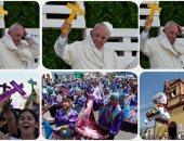 الرياح تغازل بابا الفاتيكان أثناء خطابه فى تشيلى