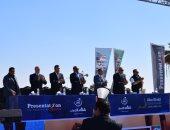 صور..  مؤتمر صحفي عالمي بالكرنك فى الأقصر عن ماراثون زايد الخيري