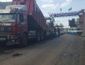 بدء أعمال رصف 1.5 كيلو متر من طريق الهرنة بدمياط