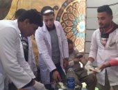 صور وفيديو.. حملة علاج فيروس c بشمال سيناء تفحص 350 حالة مجانا فى يومين وتستمر لليوم الثالث