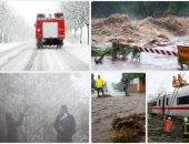 عواصف ثلجية تجتاح أوروبا وفيضانات تغرق شوارع فرنسا