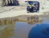 """صور.. مياه الصرف تغرق شوارع """"بنبان بحرى"""" فى أسوان والأهالى يناشدون المحافظ"""