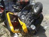 """إصابة 4 أشخاص فى حادث تصادم """"توكتوك"""" بالدقهلية"""