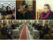 مثقفون وإعلاميون فى عزاء صبرى موسى بـ عمر مكرم