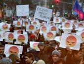 صور.. احتجاجات فى المجر ضد سياسة التعليم الحكومى ببودابست