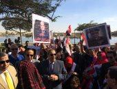 مسيرة لذوى الاحتياجات الخاصة بالإسماعيلية دعما لترشح السيسي