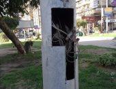 قارئ يحذر من وجود كابلات عارية بأعمدة الكهرباء فى شارع جامعة الدول بالمهندسين