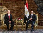 نائب ترامب يغادر مطار القاهرة بعد لقاء الرئيس السيسي