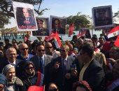 فيديو وصور.. مسيرة لذوى الاحتياجات الخاصة بالإسماعيلية دعما لترشح السيسي