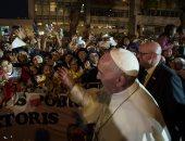 البابا فرنسيس يطلق النكات فى لقاء مع راهبات بيرو