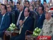 الرئيس السيسي يتفقد أحد الصروح الصناعية فى محافظة بنى سويف