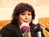 """وزيرة الثقافة تحضر عرض مسرحية """"قواعد العشق"""" على مسرح جامعة القاهرة"""