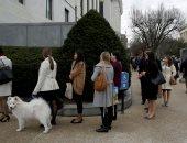 صور.. موظفو الكونجرس الأمريكى يصطفون لدخول مجلس الشيوخ بعد إغلاق الحكومة