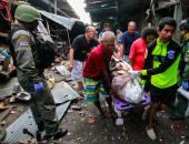 صور.. مقتل 3 أشخاص وإصابة 18 آخرين إثر تفجير دراجة نارية بسوق فى تايلاند
