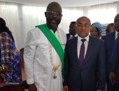 صور.. رئيس الاتحاد الأفريقى يحضر مراسم تنصيب جورج وايا لرئاسة ليبيريا