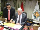 محافظ جنوب سيناء يعتمد نتيجة الشهادة الإعدادية بنسبة نجاح 84.3%