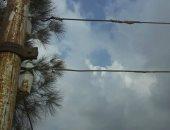 قارئ يطالب بصيانة أسلاك الأعمدة الكهربائية فى عزبة البلابسة بكفر الشيخ