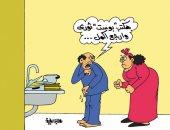 """اضحك مع طرائف مدعى """"الثورية"""" على فيس بوك.. بكاريكاتير """"اليوم السابع"""""""