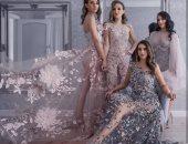 لو أخت العروسة.. اختارى فساتين سواريه بالورود من مجموعة دار Varacalli