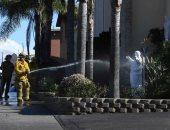 صور.. حريق فى الكنسية الكاثوليكية بولاية كاليفورنيا الأمريكية