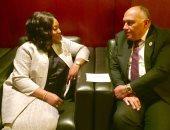 سامح شكري يبحث مع وزيرة خارجية غانا العلاقات الثنائية والقضايا الإقليمية