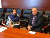 سامح شكرى يلتقى وزيرة خارجية كينيا على هامش الاجتماعات التمهيدية للقمة الأفريقية