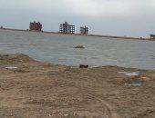صور.. مياه البحر والأمطار تغرق أرض بيت الوطن بدمياط.. والجهاز: لا يوجد ضرر