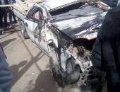 مصرع ضابط شرطة وإصابة 3 مجندين فى حادث تصادم بقرية أبوصويرة بجنوب سيناء