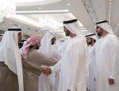 صور.. ولى عهد أبو ظبى يتلقى عزاء الشيخة حصة فى قصر المشرف بالإمارات