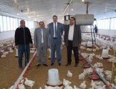 """رئيس جامعة سوهاج يتابع إنتاج """"مزرعة الدواجن"""" بمدينة الكوثر"""
