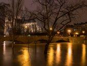 صور.. منسوب المياه فى نهر السين بباريس يبلغ ذروته