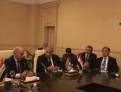إبراهيم محلب يلتقى رئيس برلمان العراق و6 وزراء لمناقشة ملف إعادة الإعمار
