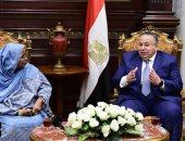 السيد الشريف يلتقى نائبة رئيس المجلس الوطنى السودانى فى مكتبه بالبرلمان (صور)