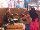صور.. مأساة أسرة بالمنيا عائلها عاجز عن العمل بسبب حادثى تصادم