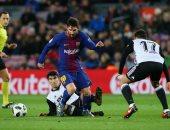 برشلونة يفشل فى فك لغز دفاعات فالنسيا بشوط سلبى بكأس إسبانيا