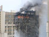 اندلاع حريق بمبنى النشاط الرياضى ببلدية المحلة أثناء هدمه بالغربية