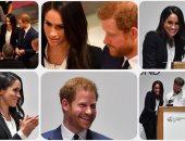 الأمير هارى وخطيبته ميجان ماركل يكرمان جرحى الجيش البريطانى فى لندن