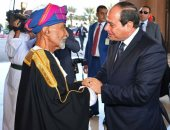 """شاهد موكب الرئيس السيسى أثناء مروه بكورنيش شاطئ """"السيب"""" فى مسقط"""