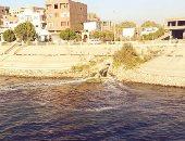 قارئ يرصد اختلاط مياه الصرف الصحى بالنيل بمرسى كوم أمبو السياحى فى أسوان