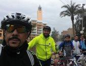 فيديو وصور .. أبطال السبع دراجات يواصلون مبادرة دعم الرئيس السيسى