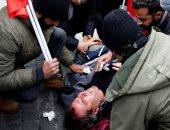 صور.. اشتباكات وإصابات فى روما احتجاجا على زيارة أردوغان إلى إيطاليا