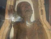 ننشر صور الـ3 قطع المعروضة فى بهو المتحف المصرى أبرزها المومياء الصارخة