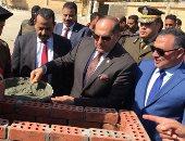 صور.. محافظ سوهاج ومدير الأمن يضعان حجر أساس معسكر قوات الأمن بجرجا