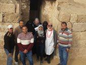 """تعرف على الجنود المجهولين وراء اكتشاف مقبرة """"حتبت"""" بمنطقة الهرم"""