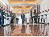"""محمد بن زايد ينشر صورة له على """"تويتر"""" أثناء وداع الرئيس السيسى للإمارات"""