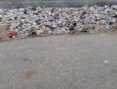 انتشار القمامة فى شوارع الخانكة يثير غضب أهالى القليوبية
