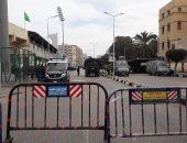 صور.. تشديدات أمنية وتشكيلات أمن مركزى بمحيط استاد النادى المصرى فى بورسعيد