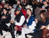 صور.. جميلة عوض فى الصفوف الأولى بفعاليات New York Fashion Week