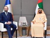"""حاكم دبى يستقبل رئيس وزراء فرنسا.. ويؤكد: """"علاقاتنا فى أفضل أوقاتها"""""""
