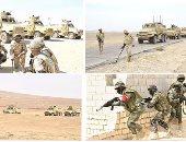 القوات المسلحة تحبط تهريب أسلحة بالحدود الغربية وتدمر 4 عربات للإرهابيين
